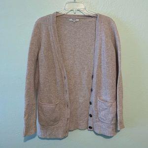 Madewell beige cardigan w pockets and buttons